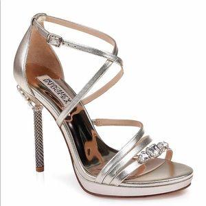 Badgley Mischka Sheri Crystal Embellished Heels
